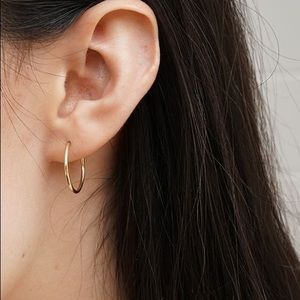 Golden Oversized Hoop Earrings - Small